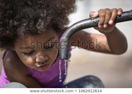Stockfoto: Verontreiniging · armoede · indian · oude · vrouwelijke · vergadering