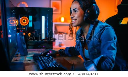 Pretty young shooter. Stock photo © lithian