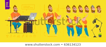 artist   cartoon character   vector illustration stock photo © indiwarm