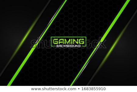 Game_black background Stock photo © Filata
