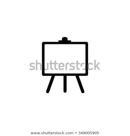 Vektor ikon festőállvány oktatás festmény tányér Stock fotó © zzve