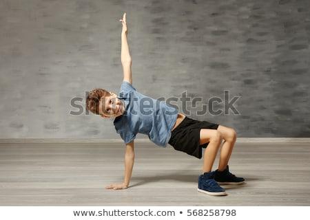 мальчика танцы Cute мало играет весело Сток-фото © Talanis