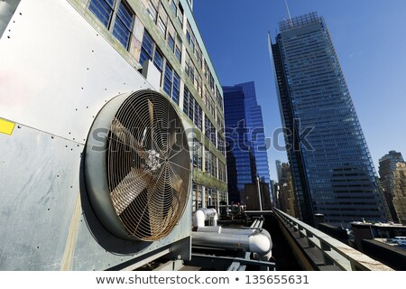 Stock photo: Urban HVAC Air Contidioner Outdoor Unit Manhattan New-York