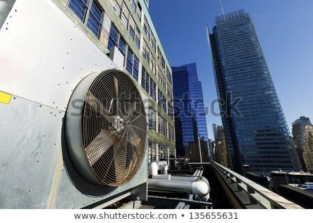 urban hvac air contidioner outdoor unit manhattan new york stock photo © eldadcarin
