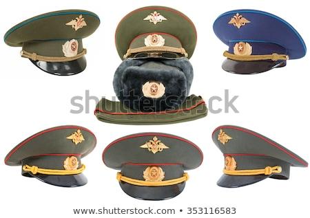 Rus askeri subay portre ofis moda Stok fotoğraf © Andersonrise