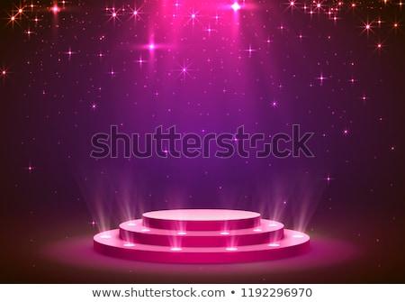 Różowy disco podium ilustracja pusty Fotografia Zdjęcia stock © obradart