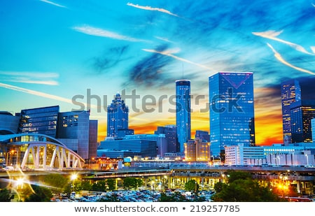 centre-ville · Atlanta · nuit · temps · Géorgie · ville - photo stock © AndreyKr