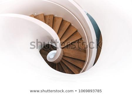 Wooden spiral stairs Stock photo © ifeelstock
