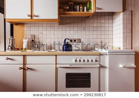 Foto stock: Cocina · estufa · vintage · aluminio · otro