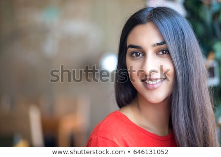 Stock photo: portrait of beautiful indian woman on nature