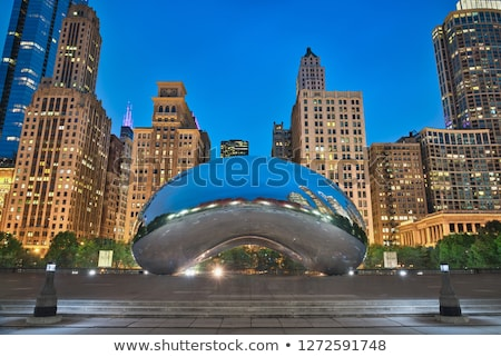 Stockfoto: Wolk · poort · sculptuur · park · Chicago · 18