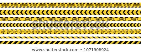 Hazard Stripes Vector Stock photo © ArenaCreative