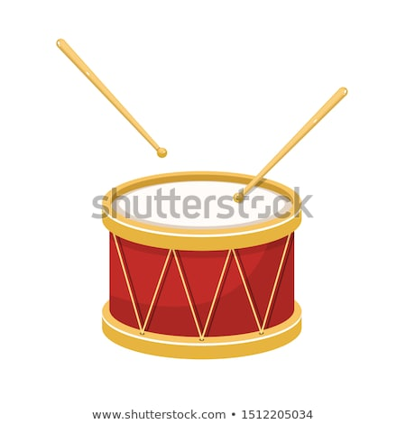 drum with drumsticks Stock photo © perysty