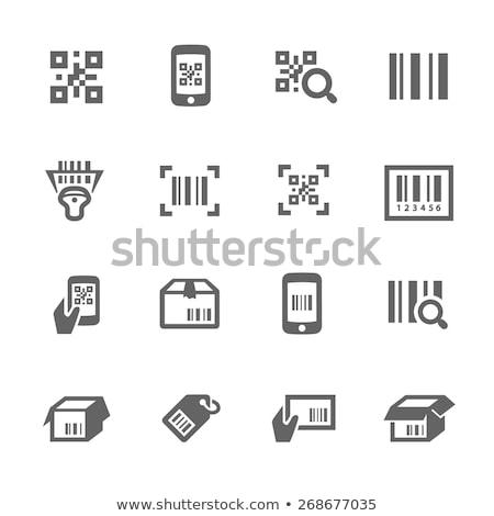 Qr coded label set Stock photo © vipervxw