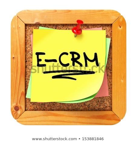 Amarillo etiqueta corcho mensaje bordo Foto stock © tashatuvango