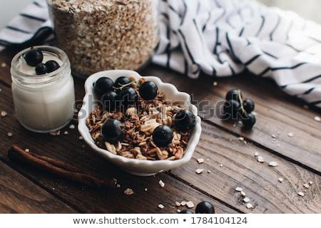 yoghurt and fruits stock photo © m-studio
