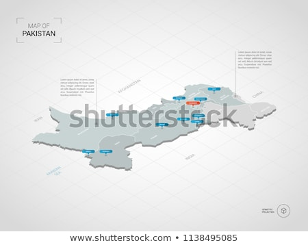 Pakistan map Stock photo © Volina