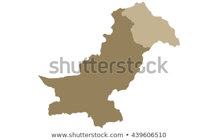 Black Pakistan map Stock photo © Volina