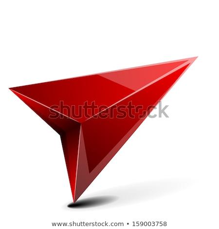 3D gps pijl gedetailleerd illustratie schaduw Stockfoto © unkreatives