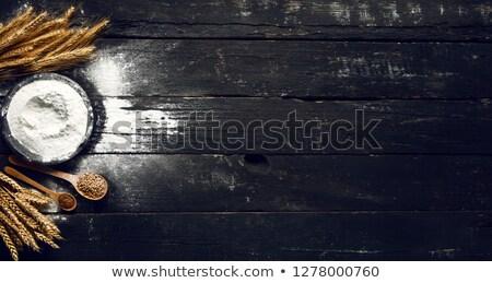 穀物 静物 小麦粉 木製 側位 ストックフォト © MKucova