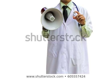 çığlık · atan · genç · doktor · portre · tıbbi - stok fotoğraf © kirill_m