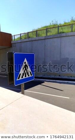 ストックフォト: 注意 · 壁 · 黒 · 黄色 · 背景