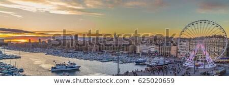 Widoku Marseille Francja miasta wody domu Zdjęcia stock © dinozzaver