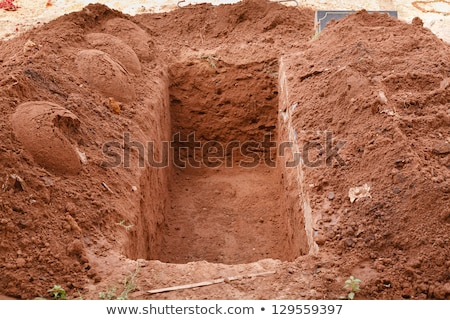 Freshly dug grave in cemetery Stock photo © backyardproductions