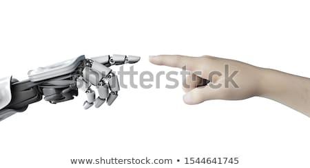 doktor · robot · tamir · yalıtılmış · bilgisayar · çalışmak - stok fotoğraf © kirill_m