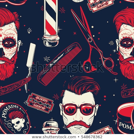 Retro razor blade seamless pattern. Vector  Stock photo © odes