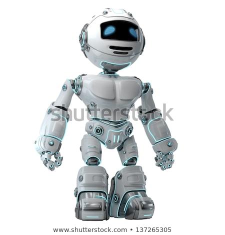 立って ロボット 黒 コンピュータ 技術 科学 ストックフォト © Kirill_M