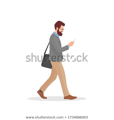 ストックフォト: Businessman Staring At The Phone