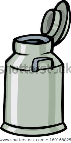 milk can or churn cartoon clip art Stock photo © izakowski