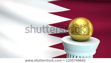 Bandeira Catar futebol equipe país Foto stock © MikhailMishchenko