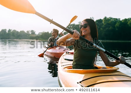 Woman Kayaking on Lake stock photo © 2tun
