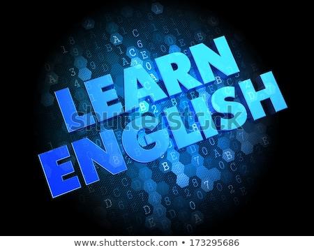学ぶ 英語 暗い デジタル 青 色 ストックフォト © tashatuvango