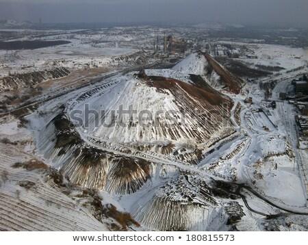 Snow-covered slagheap (aerial view). Stock photo © Leonardi