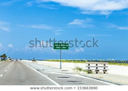 улице подписать Лонг-Бич шоссе христианской пляж Сток-фото © meinzahn