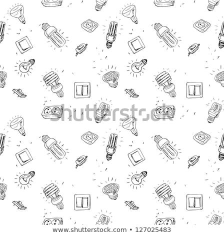 Soquete abstrato tecnologia fundo lâmpada Foto stock © elenapro