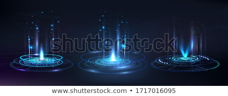 holograma · 50 · euro · projeto · de · lei · macro · foto - foto stock © Vectorex