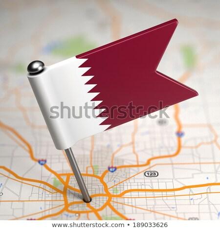 Катар небольшой флаг карта избирательный подход реклама Сток-фото © tashatuvango