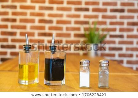 zout · peper · witte · zilver · voedsel · metaal - stockfoto © fotogal