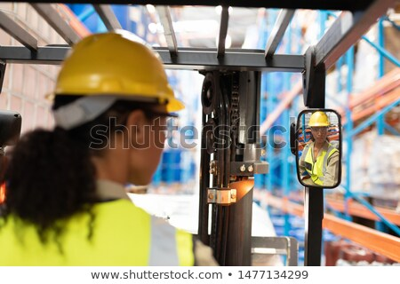 Сток-фото: Rear View Of Female Manager In Warehouse