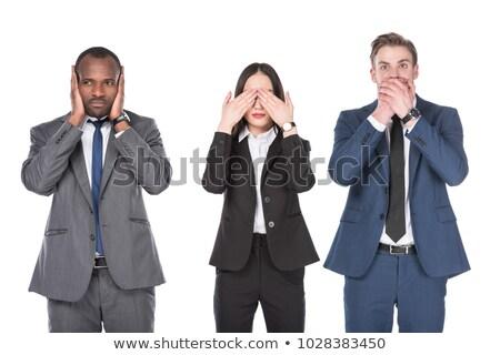 businessman - speak no evil Stock photo © dgilder
