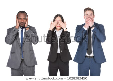 businesswoman   speak no evil stock photo © dgilder