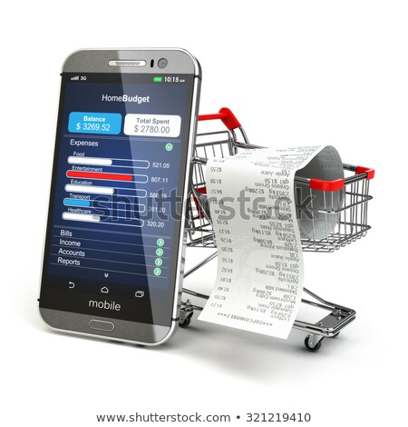 Smart phone and business graph, Mobile banking, e-business and financial growth Stock photo © designers