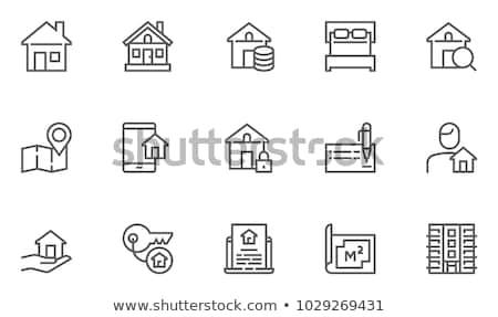 Residential Neighborhood Icons Stock photo © cteconsulting