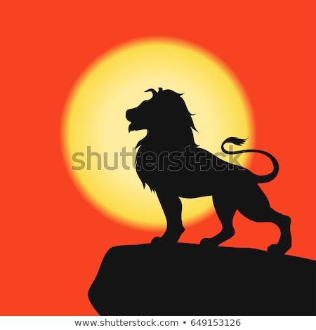 лев · портрет · царя · лице · рот · животного - Сток-фото © oleksandro