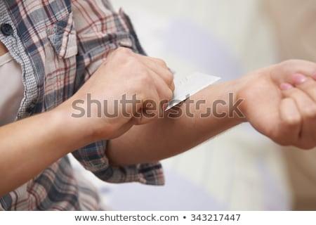 ножом · лезвия · печально · помочь · ванную - Сток-фото © HighwayStarz