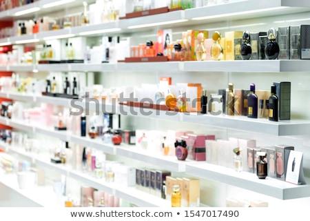 Parfumerie illustration eau mode Shopping bleu Photo stock © adrenalina